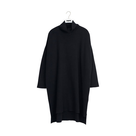 KNIT COSY DRESS SOLID, Black