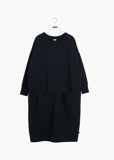 PAPU GIANT SPLIT DRESS, L koko, musta
