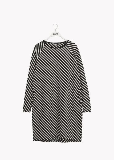 PAPU STRIPE-tunika, Black/Sand