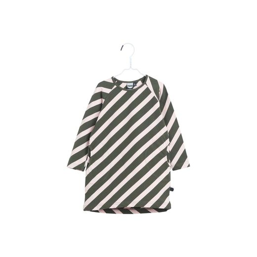 Stripe kanto shirt PUFFY STRIPE, Ever green - heather pink