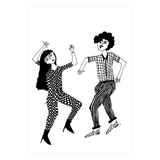 helen b - postikortti dancing couple